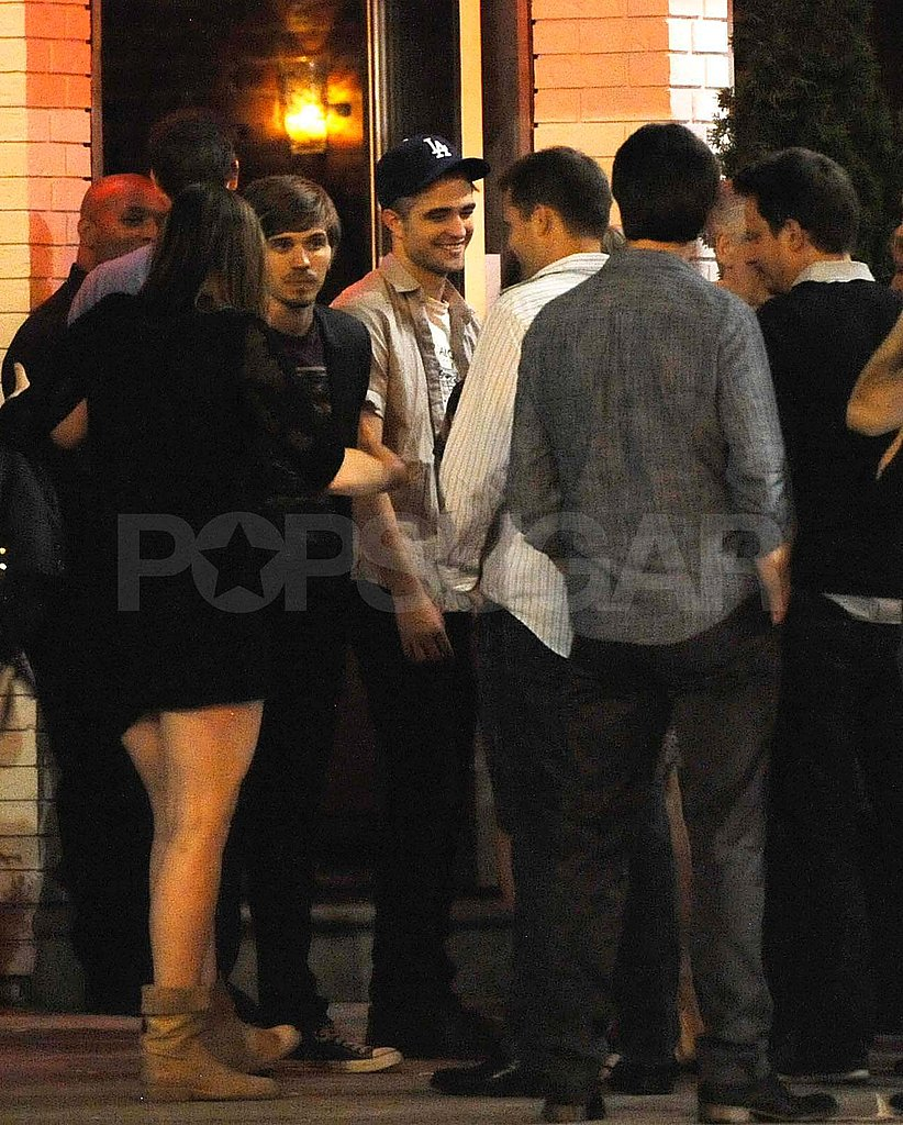 Robert Pattinson at Cosmopolis wrap party.