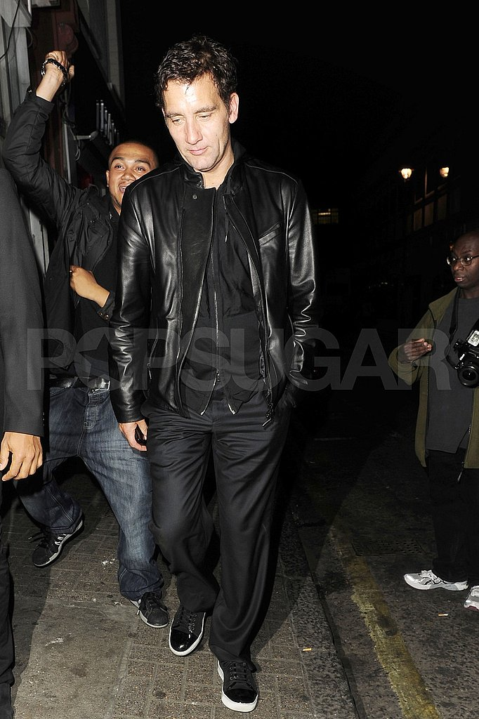 Clive Owen in leather.