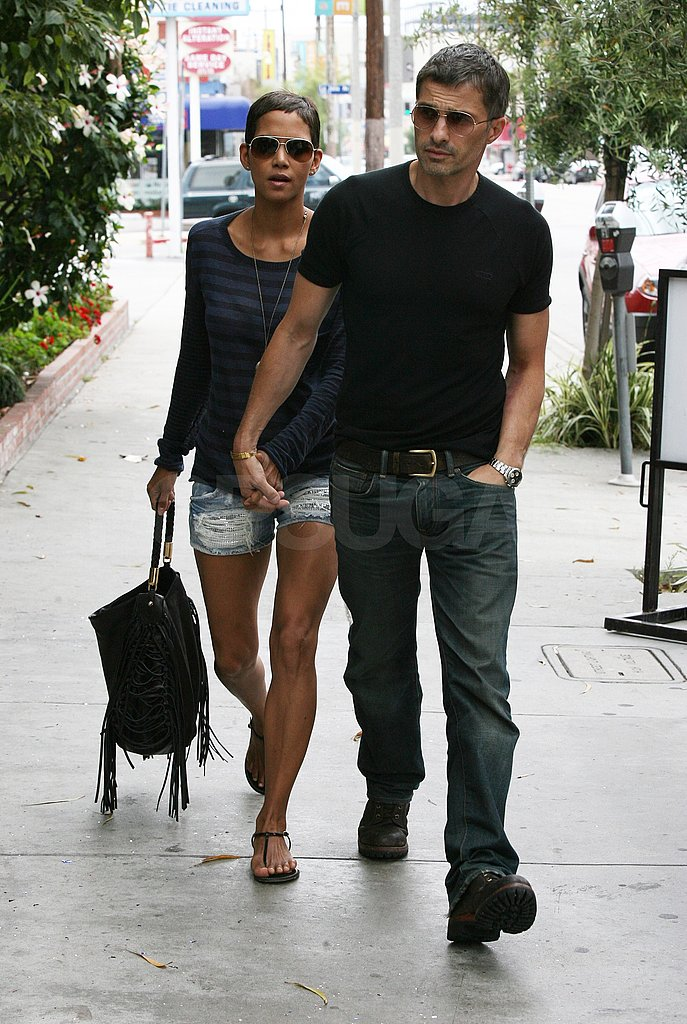 Halle Berry and Olivier Martinez left lunch in LA.