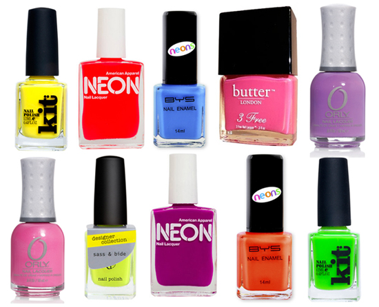 10 of the Best: Bold, Bright and Trendy Neon Nail Polishes