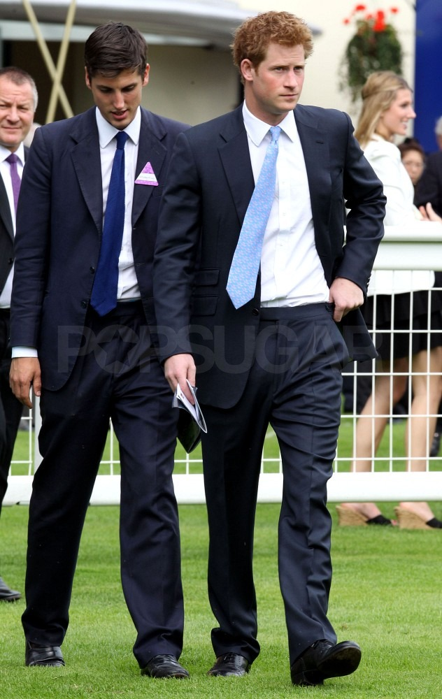 Prince Harry in a blue tie.