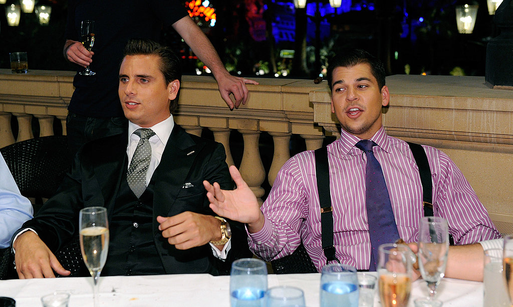 Scott Disick and Robert Kardashian made the trip to Las Vegas.