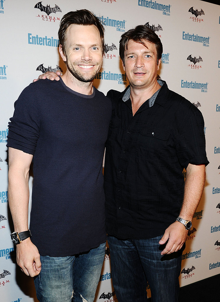 Joel McHale and Nathan Fillion