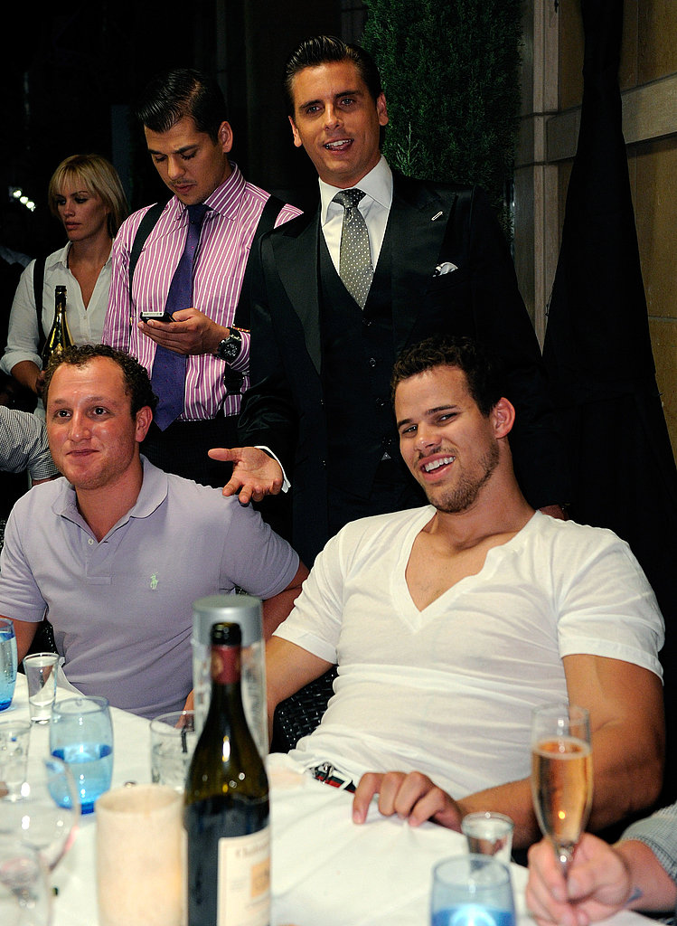 Scott Disick joked with Kris Humphries.