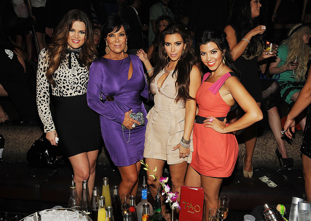 Kris Jenner joined her daughters for the soiree.