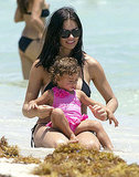 Adriana Lima plays with daughter Valentina Jaric.