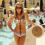 Ashley Tisdale at a Las Vegas pool in a bikini.