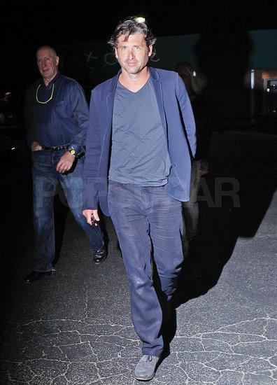 Patrick Dempsey left dinner at Nobu in Malibu.