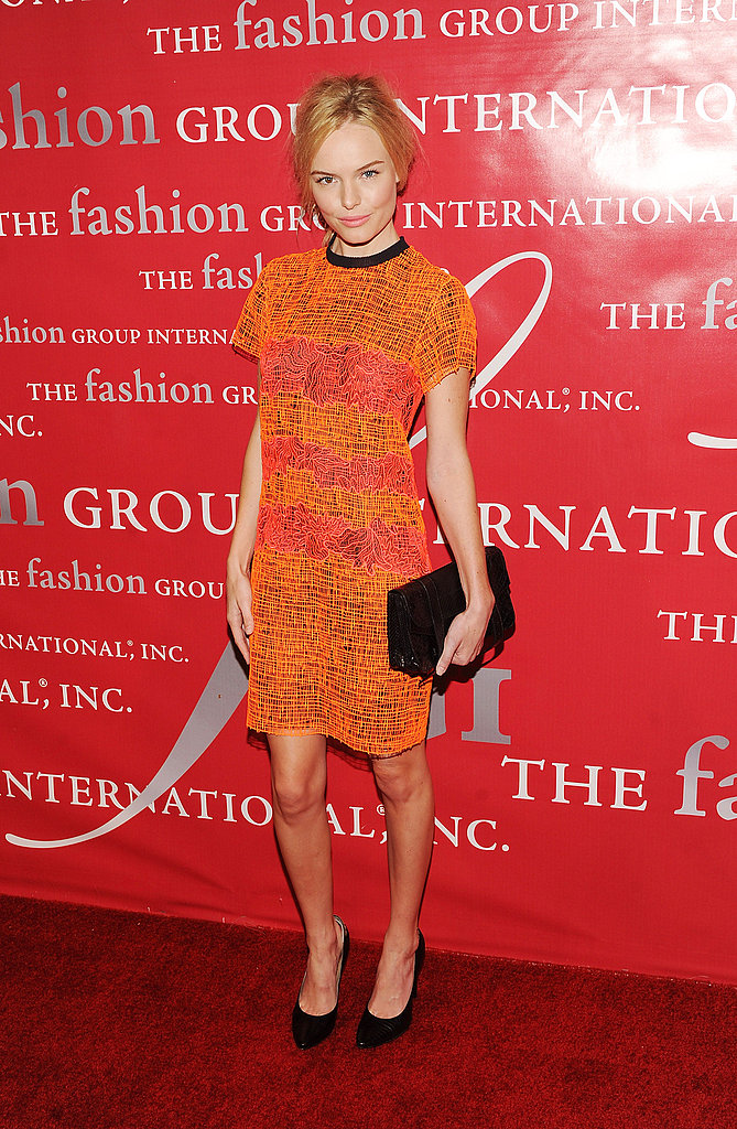 Kate showed off standout cocktail-party wear in a brightly hued Proenza Schouler sheath in October 2010.