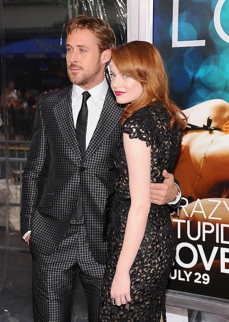 Emma Stone and Ryan Gosling pose together at the Crazy Stupid Love premiere in NYC.