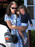 Jennifer Garner and Seraphina Affleck cute together.