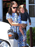 Jennifer Garner and Seraphina Affleck run errands.