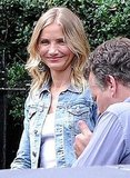 Cameron Diaz on the London set of Gambit.