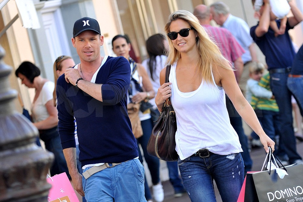 Bar Refaeli and David Fisher shopped in St. Tropez.