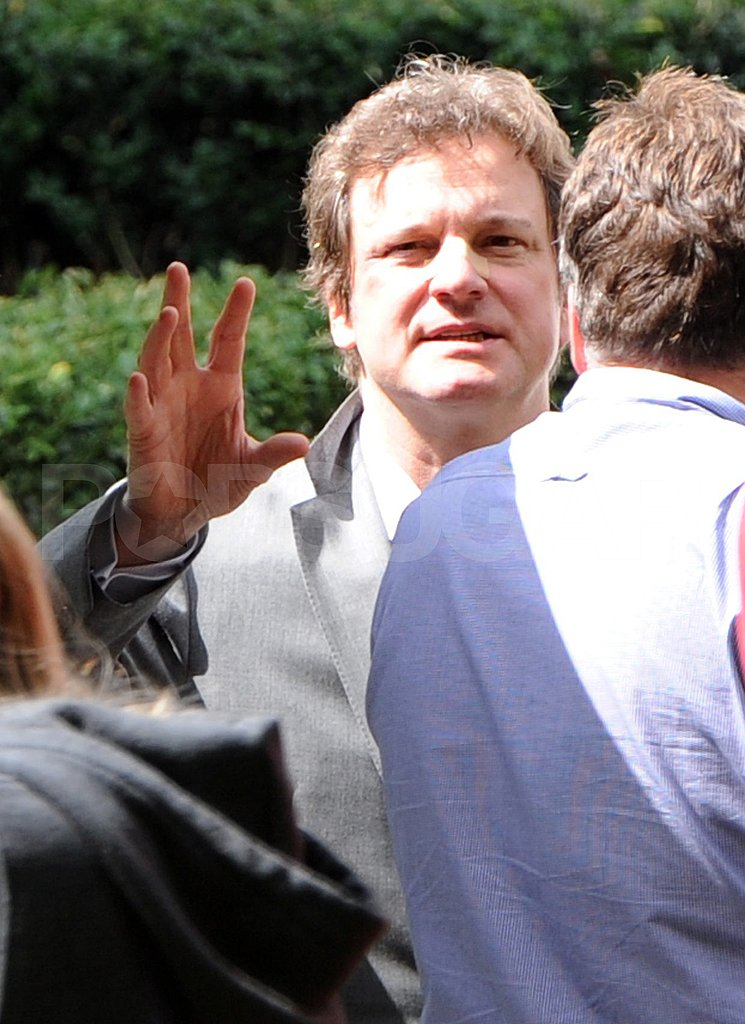 Colin Firth on the London set of Gambit.