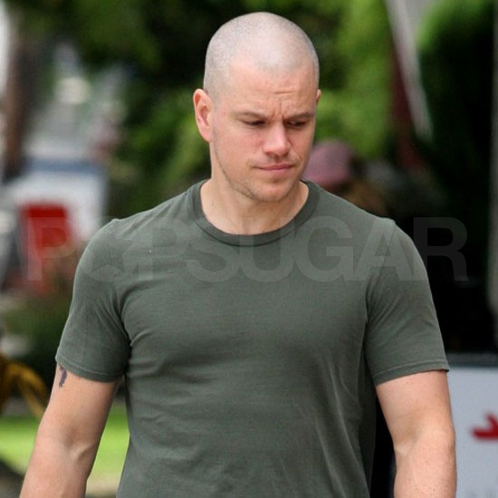 Matt Damon debuted a slick new hairdo.