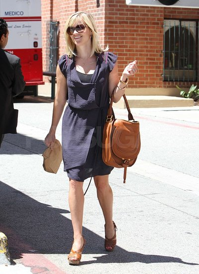 Reese Witherspoon Throws On a Dress For a Day Out