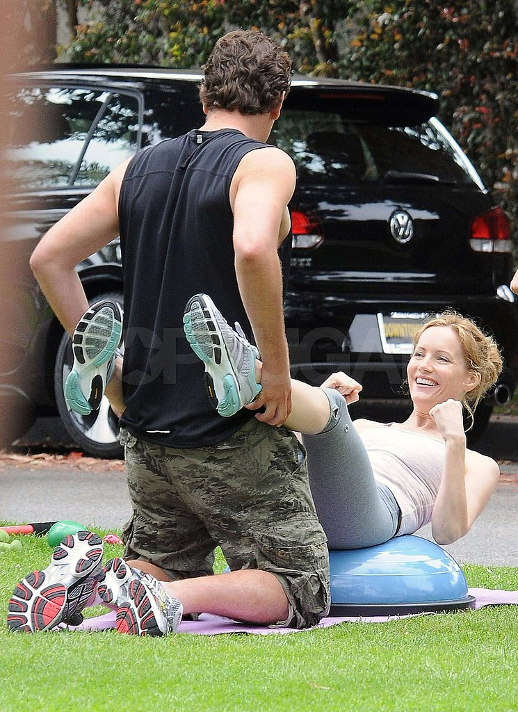 Jason Segel plays Leslie Mann's personal trainer in the new movie.