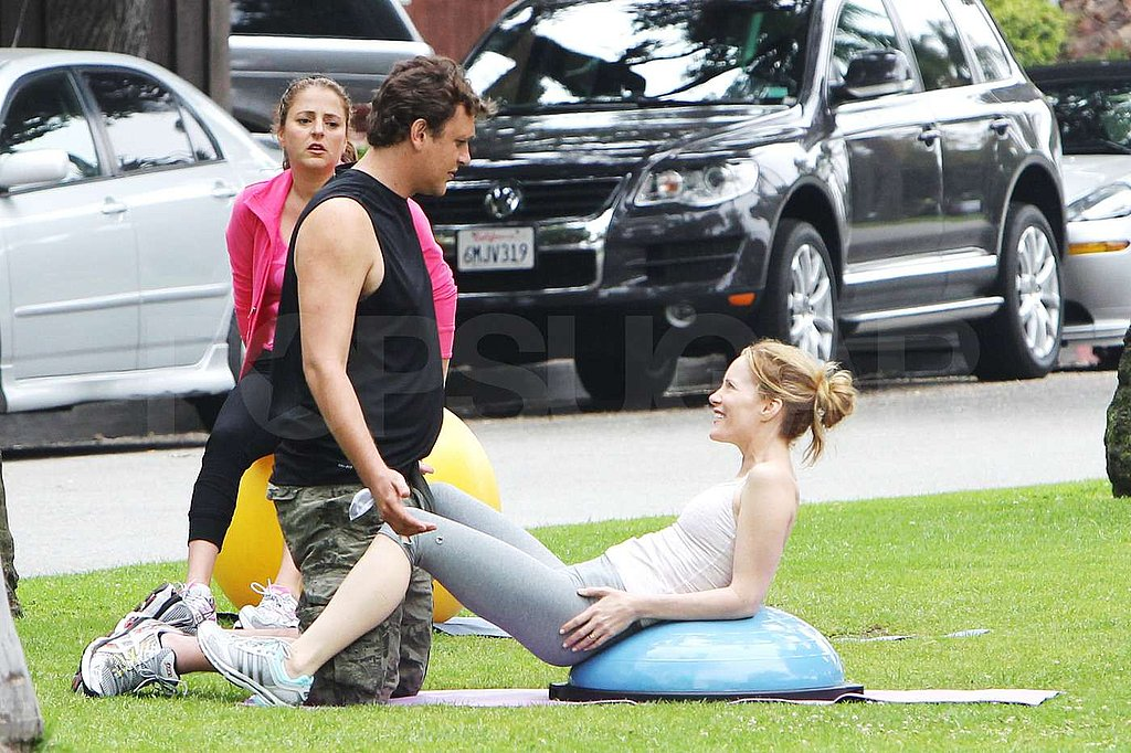 Leslie Mann and Jason Segel filmed their new movie.
