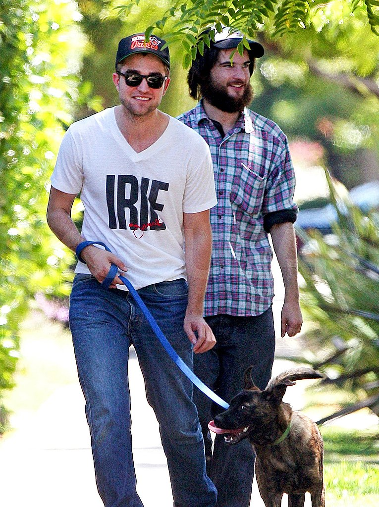 Robert Pattinson's rescue dog Bear.