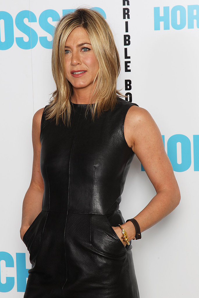 Jennifer Aniston Hits the London Photo Call For Horrible Bosses in Black Leather!
