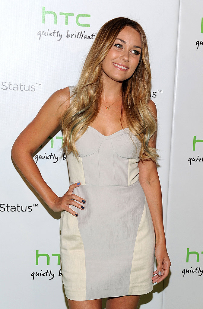 Lauren Conrad had a hint of blue in her hair.