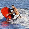 David and Brooklyn Beckham Boogie Boarding in Malibu Pictures