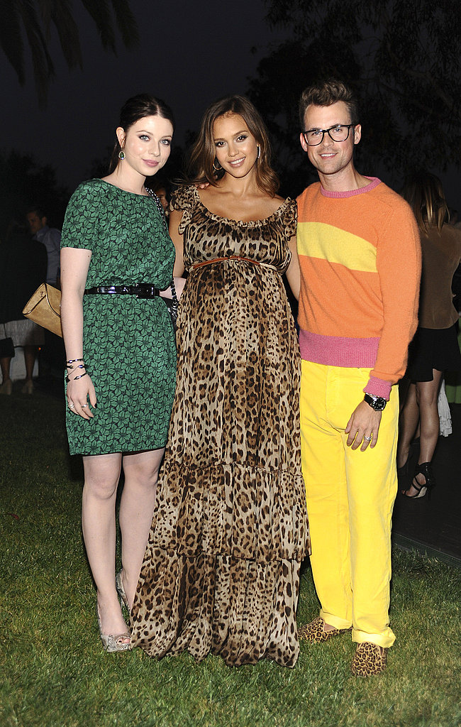 Jessica Alba and Michelle Trachtenberg with Brad Goreski at a Lucky magazine event.