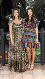 Pregnant Jessica Alba and Ali Landry at a Lucky magazine event.