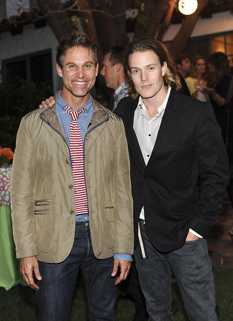 Jeffrey Alan Marks and Ross Cassidy at a Lucky magazine event.