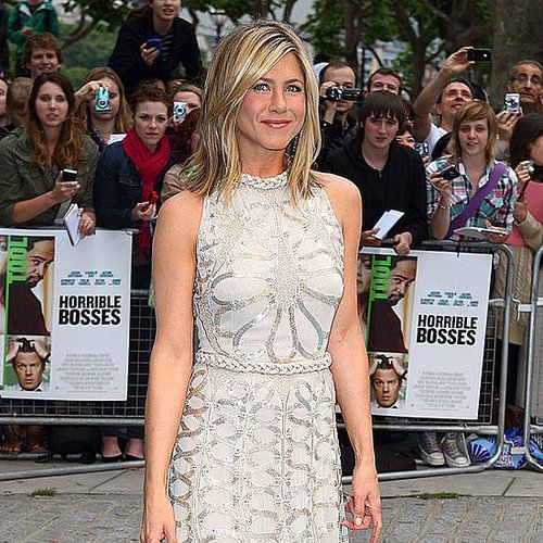 Jennifer Aniston Pictures in White at London Horrible Bosses Premiere