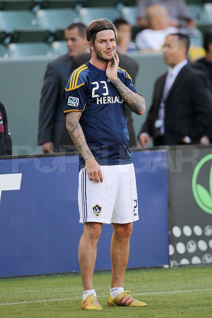 David Beckham looking handsome.