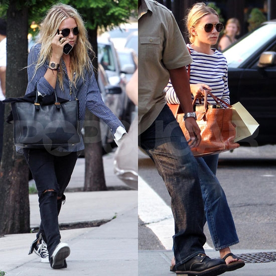 Mary-Kate and Ashley Olsen Show Their Stripes in the City