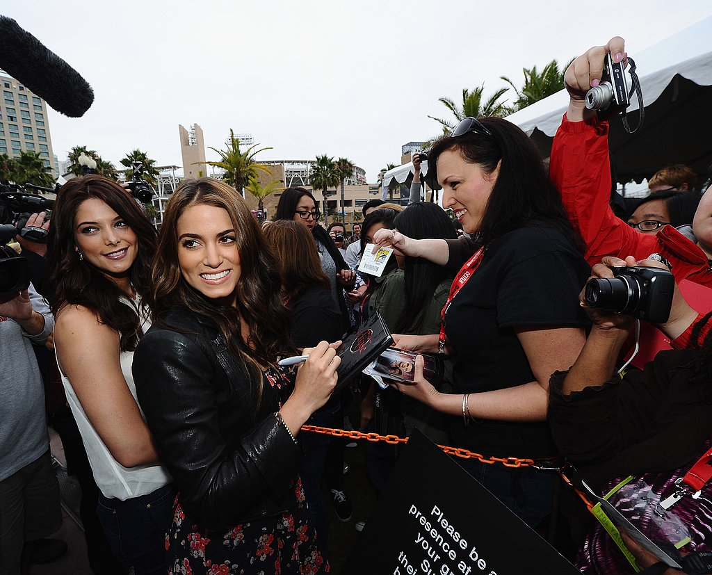 Nikki Reed and Ashley Greene at Comic-Con for Breaking Dawn.