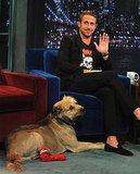 Ryan Gosling and his dog.