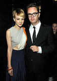 Carey Mulligan and Nicolas Winding Refn posed for a photo.