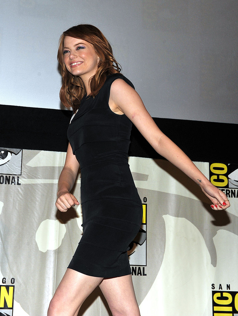 Emma Stone was all smiles for the Comic-Con panel.