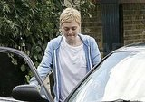 Dakota Fanning hopped into a car.