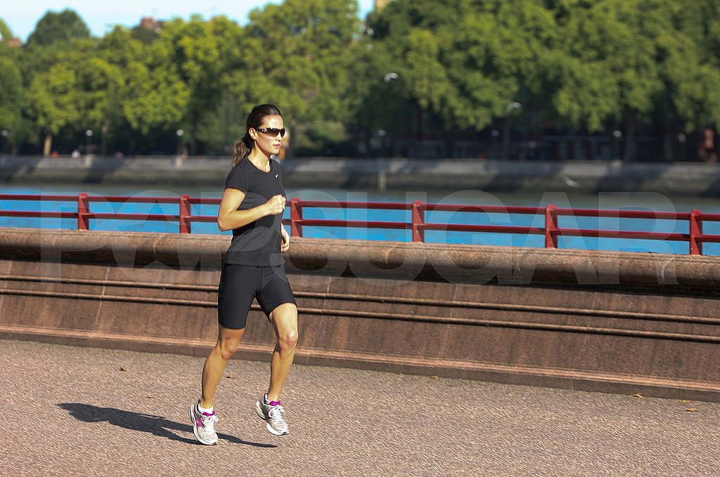 Pippa Middleton jogs in London.