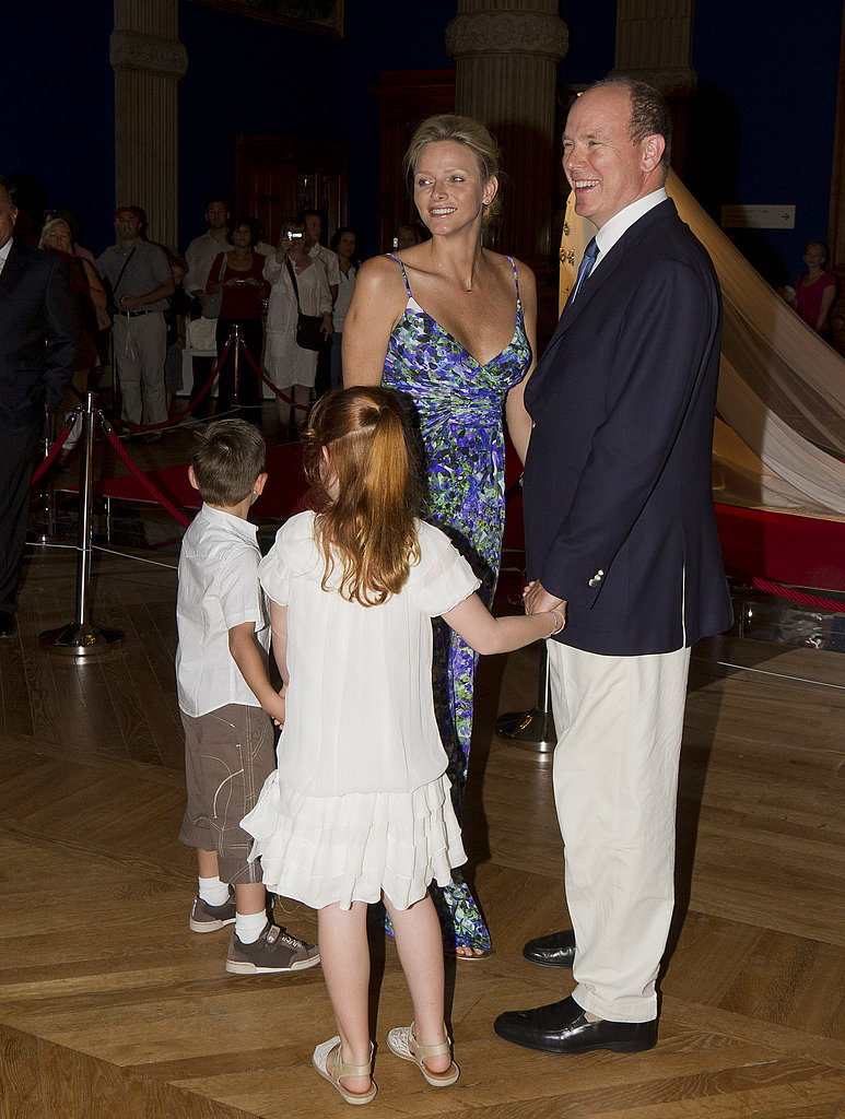 Prince Albert and Charlene Wittstock at their royal wedding exhibit.
