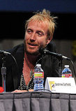 Rhys Ifans joined the panel in San Diego.