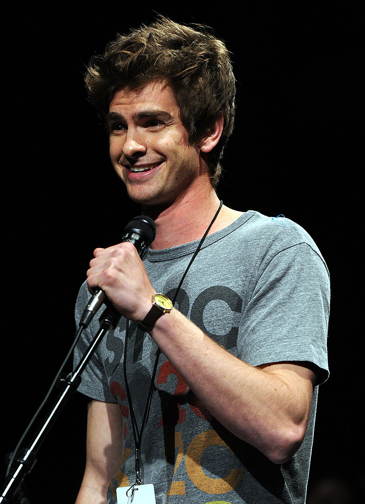 Andrew Garfield took the mike to speak to the audience.