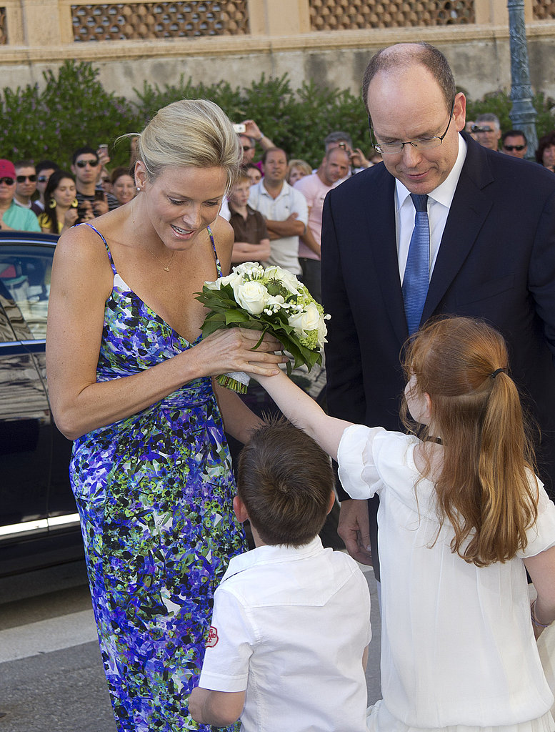 Prince Albert and Charlene Wittstock in Monaco.