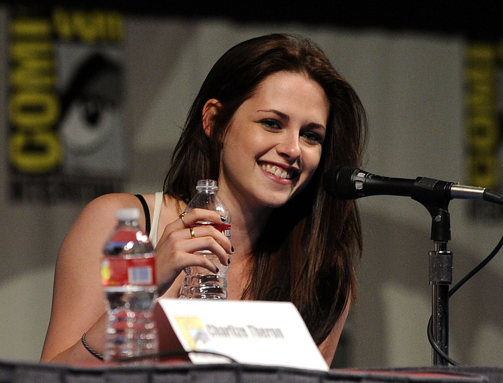 Kristen Stewart was all smiles discussing Snow White and the Huntsman.