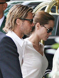Angelina Jolie and Brad Pitt Head Out For a Lunch Meeting
