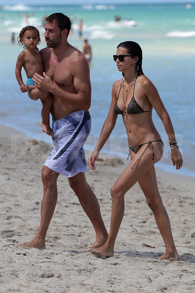 Adriana Lima wears a bikini with Marko and Valentina Jaric.