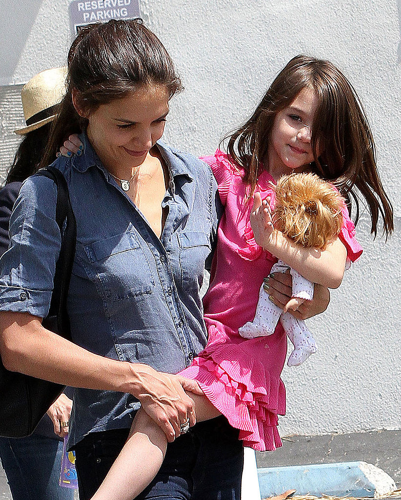 Katie Holmes Celebrates National Dance Day With Suri and at Six Flags