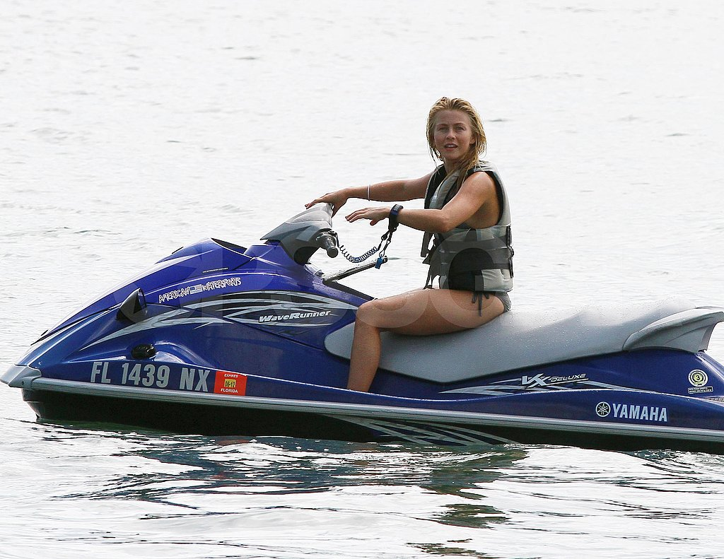 Julianne Hough on a jet ski in Miami.