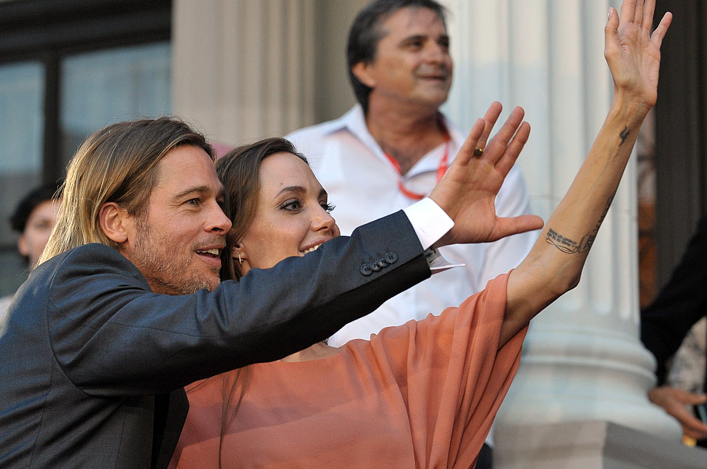 Brad Pitt Watches as Angelina Jolie Accepts Honors at the Sarajevo Film Festival