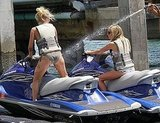 Julianne Hough and Ashley Tisdale jet ski.